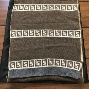 Fendi Wool & Cashmere Scarf, Unisex, Brown Multi